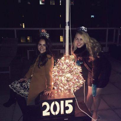 NYE: Me & Evelyn post makeshift balldrop